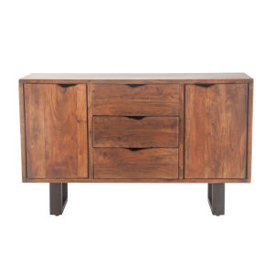 Belfrie Walnut and Antique Zinc Sideboard