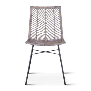 Bali Gray Whitewash Dining Chair, Set of 2