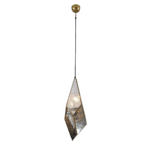 Bali Antique Brass One-Light Pendant Light