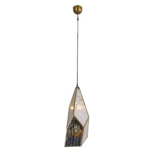 Bali Antique Brass One-Light 22-Inch Pendant