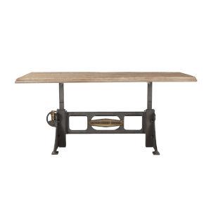 Bethlehem Antique Oak and Gun Metal 72-Inch Dining Table