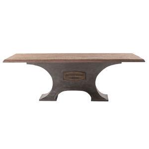Bethlehem Antique Oak and Gun Metal 90-Inch Dining Table