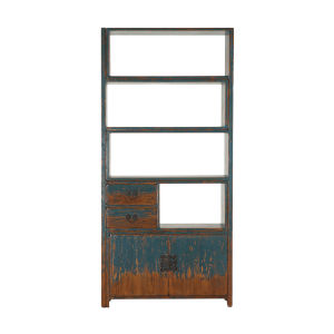 Biblioteche Antique Blue Bookshelf