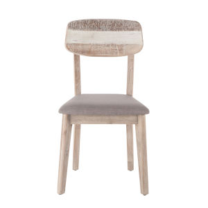 Newport Whitewash and Weathered Gray Side Chair, Set of Two