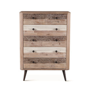 Newport Whitewash, Weathered Gray and Antique Black Dresser