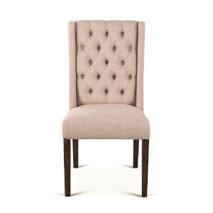 Chloe Light Brown and Weathered Teak Dining Chair, Set of 2