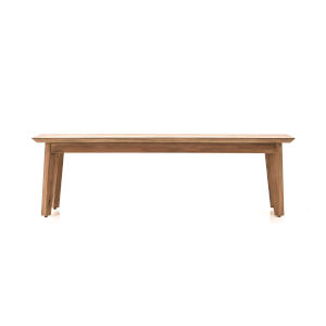 Kensington Sand Acacia Wood Dining Bench with Sand Finish