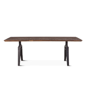 Dakota Weathered Teak And Black Rubbed Rectangular Dining Table