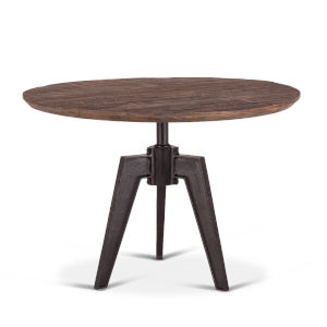 Dakota Weathered Teak And Black Rubbed Round Dining Table