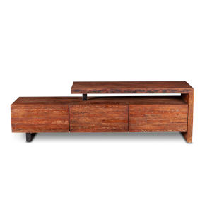 Durango Distressed Aged Teak and Matte Black 16-Inch Sideboard