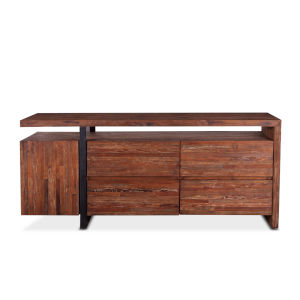 Durango Distressed Aged Teak and Matte Black 18-Inch Sideboard