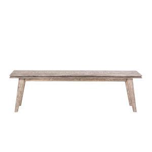 Beachwood Weathered Graywash 16-Inch Dining Bench
