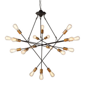 Element Matte Black And Rose Gold 18-Light Led Chandelier