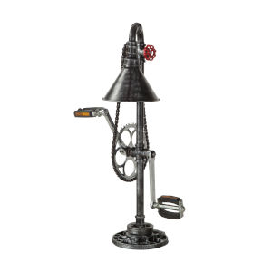 Element Powder Coated Antique Rust Led Bicycle Pedal Table Lamp