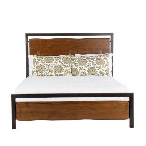 Glenwood Walnut and Antique Zinc Queen Bed