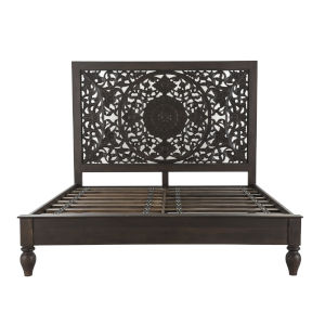 Haveli Brown King Bed
