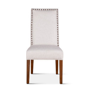 Jona Off White and Natural Teak Dining Chair, Set of 2