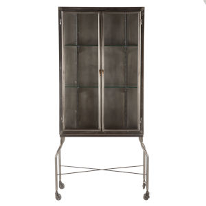 The Iron City Gun Metal 32-Inch Cabinet