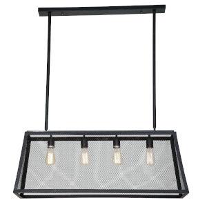 Element Powder Coated And Matte Black Four-Light Led Chandelier