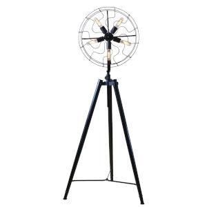 Element Powder Coated Antique Rust Five-Light Led Fan Head Floor Lamp