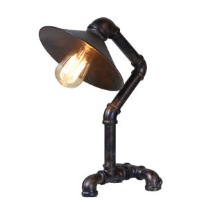 Element Powder Coated Black Pipe Table Lamp