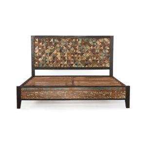 Messina Multicolor Queen Bed Frame