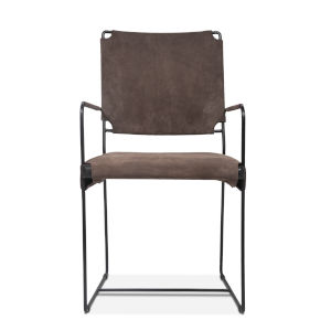 Melbourne Dark Gray and Black Armchair