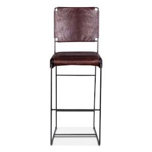 Melbourne Dark Brown and Black Bar Chair