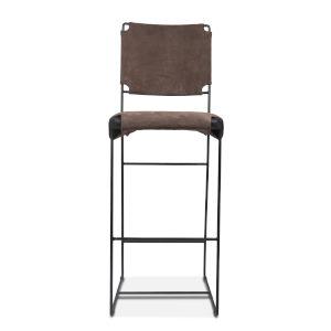 Melbourne Dark Gray and Black Bar Chair