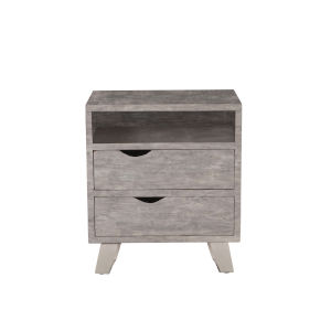 Nottingham Weathered Gray and Antique Nickel Night Chest