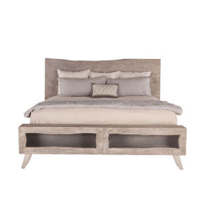 Nottingham Weathered Gray and Antique Nickel Queen Bed