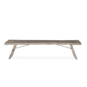 Nottingham Weathered Gray and Antique Nickel Bench