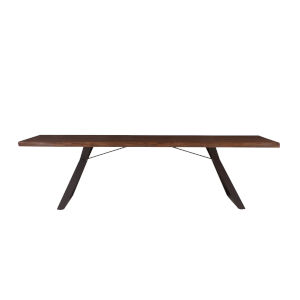 Nottingham Walnut and Antique Zinc 106-Inch Dining Table