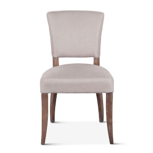 Portia Beige and Whitewash Upholstered Side Chair, Set of 2