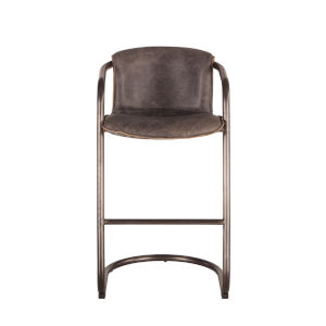Chiavari Distressed and Brushed Nickel Black Bar Chair, Set of Two