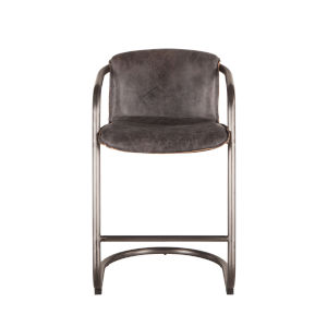 Chiavari Distressed and Brushed Nickel Black Counter Chair, Set of Two