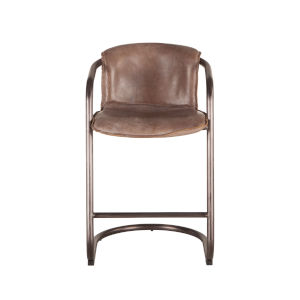 Chiavari Distressed and Brushed Nickel Counter Chair, Set of Two