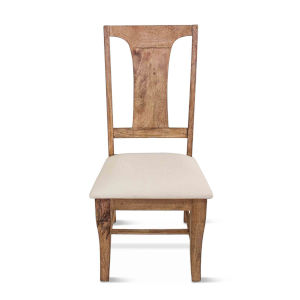 Pengrove Antique Oak Upholstered Dining Chairs, Set of 2