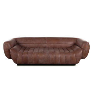 Portlando Brown Leather Sofa