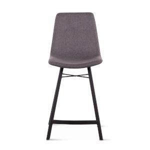 Posey Matte Gunmetal Counter Chair, Set of Two