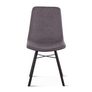 Posey Matte Gunmetal Side Chair, Set of Two
