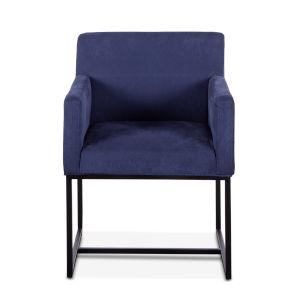 Rebel Navy Blue and Antique Zinc Armchair