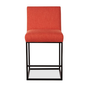 Rebel Orange and Antique Zinc Counter Chair, Set of Two