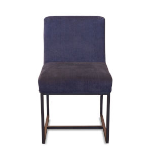 Rebel Navy Blue and Antique Zinc Dining Chair, Set of Two