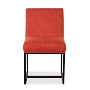 Rebel Orange and Antique Zinc Dining Chair, Set of Two