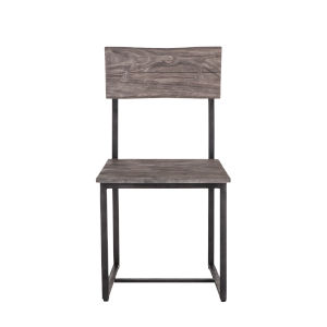 New Orleans Weathered Gray And Gun Metal Dining Chair, Set Of 2