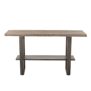 New Orleans Weathered Gray And Gun Metal 30-Inch Dining Table
