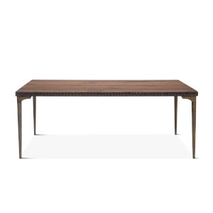 Vallarta Two Tone and Bronze 78-Inch Mango Wood Dining Table