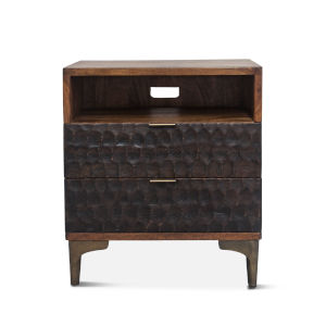 Vallarta Two Tone and Bronze 24-Inch Mango Wood Night Chest