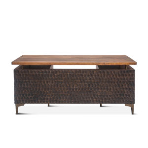 Vallarta Two Tone and Bronze 66-Inch Mango Wood Desk